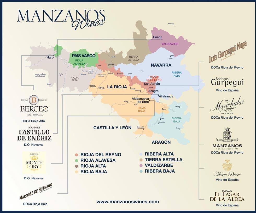 Mapa Bodegas - Manzanos Wines