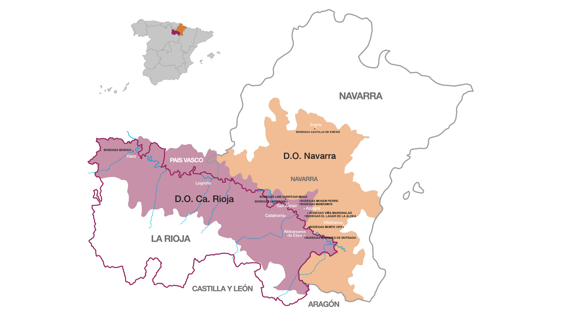 Wineries Map - Manzanos Wines