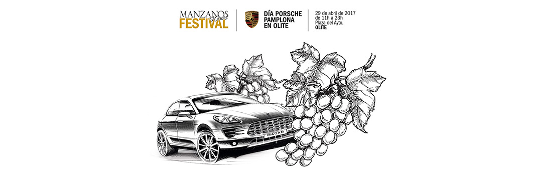 Tercera Edición Manzanos Wines Festival Día Porsche Pamplona en Olite