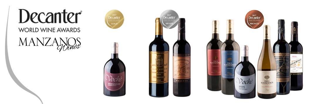 Gran éxito de Manzanos Wines en los Premios Decanter 2017