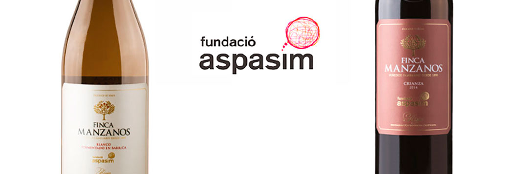 Nuevas etiquetas Finca Manzanos para recaudar fondos para la fundación Aspasim