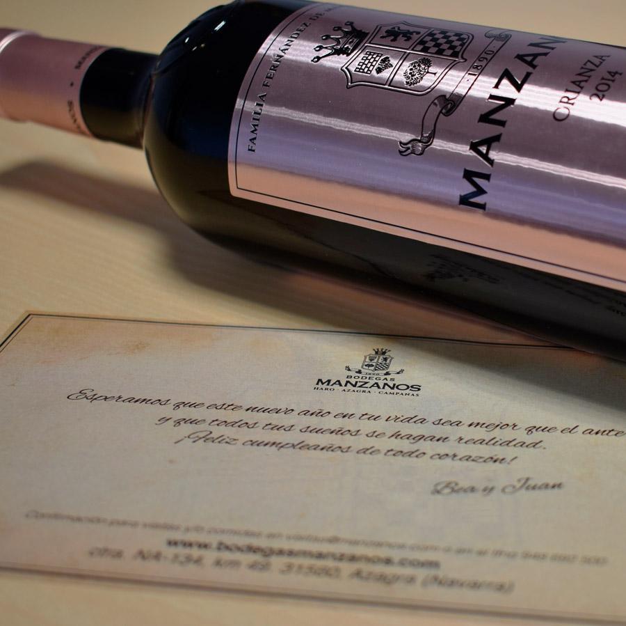 Regala vino de Manzanos Wines